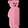 Kinderkamm - Bär Rosa - 14 cm