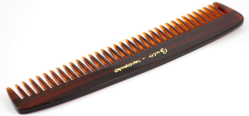 Frisierkamm gesägt, grobe Zähne - 13,5 cm