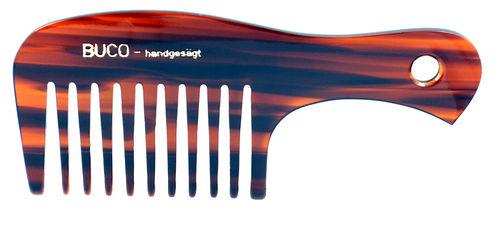 Handle-comb wide teeth hand-sawn - 17 cm
