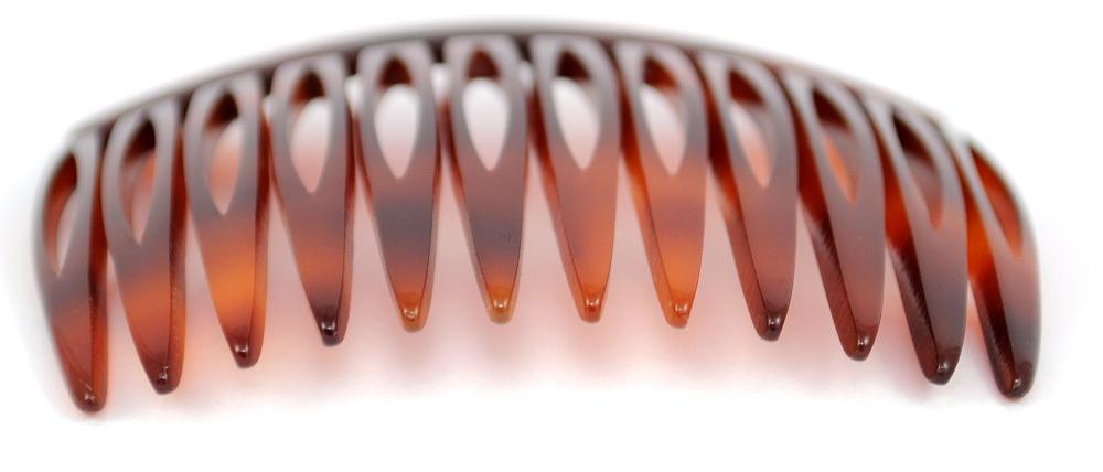 Einsteckkamm havannabraun - 6 cm, haarschonend