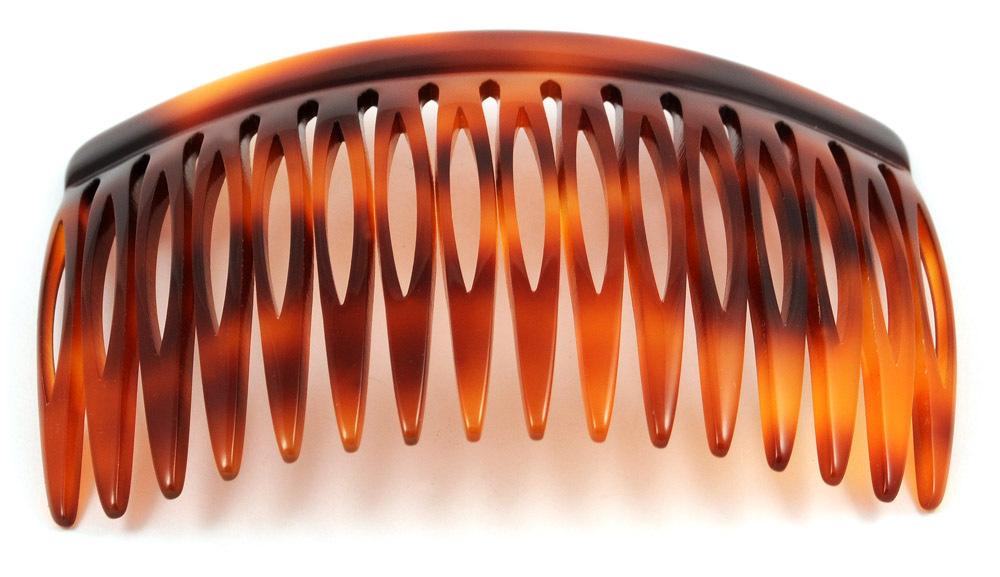 Einsteckkamm havannabraun - 8 cm