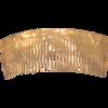 Einsteckkamm perlmutt-weiß - 11 cm