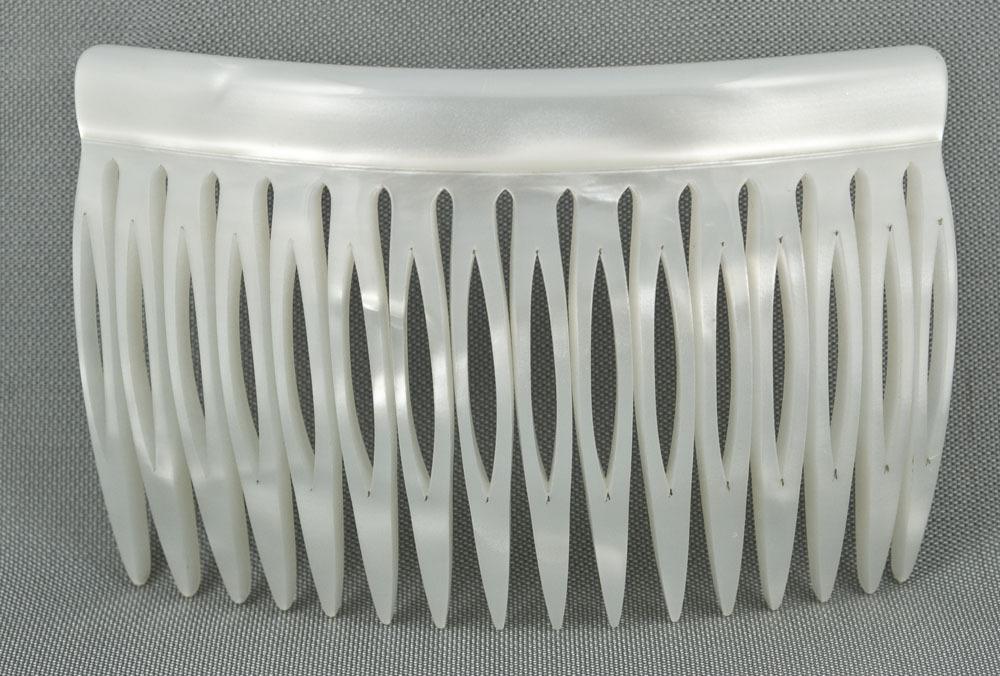 Einsteckkamm perlmutt-weiß - 8 cm