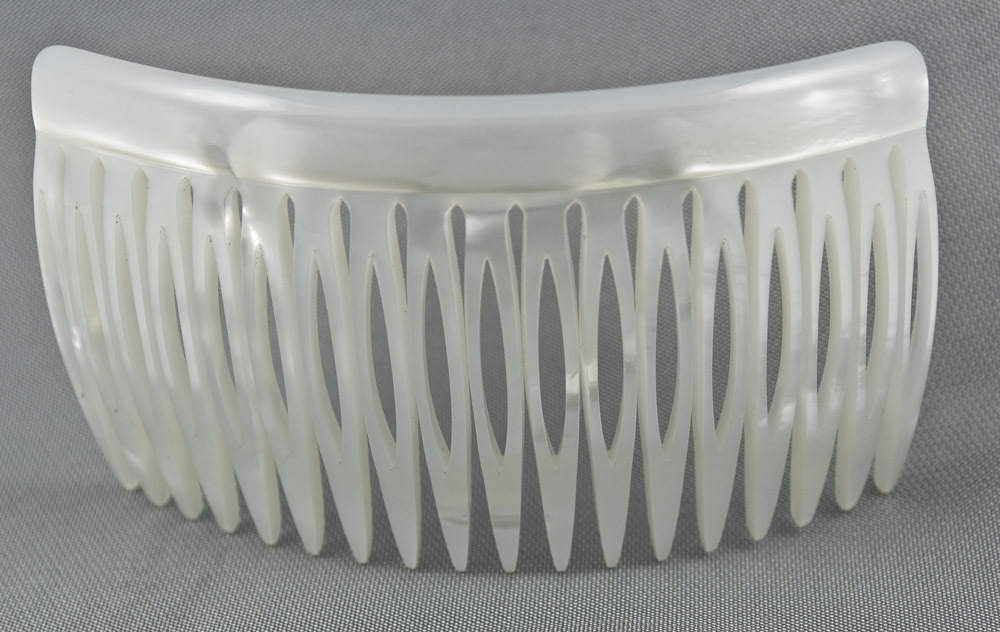 Einsteckkamm perlmutt-Weiß - 9 cm