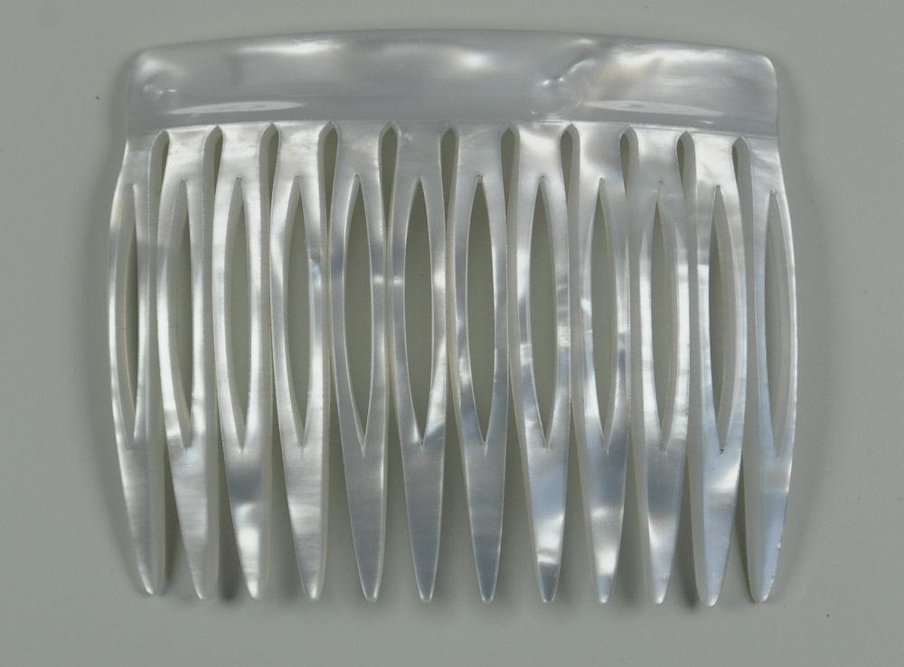 Einsteckkamm perlmutt-weiß - 6 cm, haarschonend