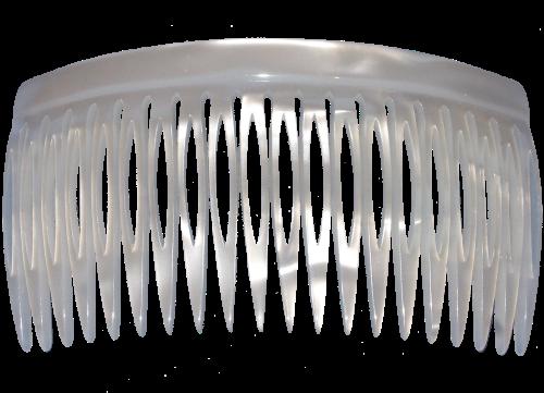 Einsteckkamm perlmutt-weiß - 10 cm