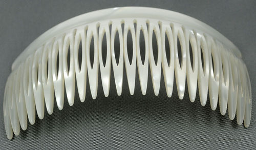 Einsteckkamm perlmutt-weiß - 12 cm