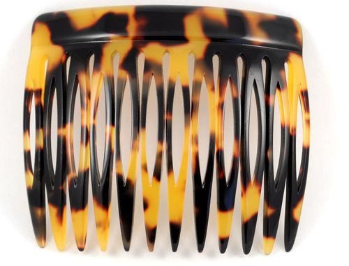 Einsteckkamm schildpattfarben - 6 cm, haarschonend
