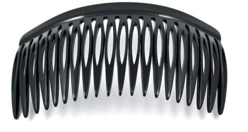 Einsteckkamm schwarz - 10 cm