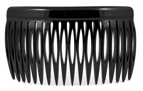 Einsteckkamm schwarz - 9 cm