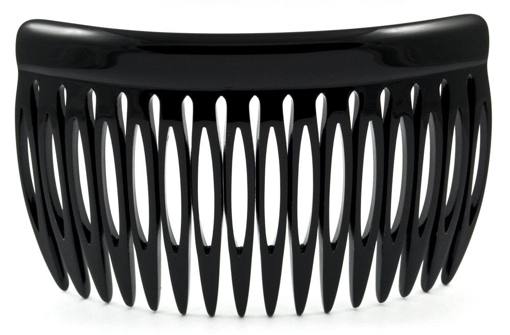 Einsteckkamm schwarz - 8 cm