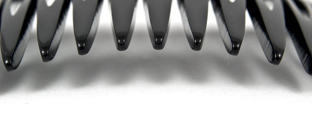 Einsteckkamm schwarz - 7 cm, haarschonend