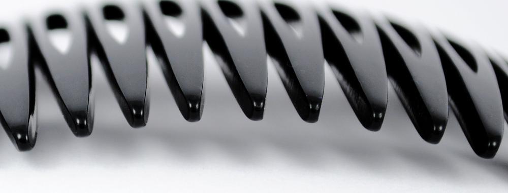 Einsteckkamm schwarz - 6 cm, haarschonend