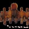 Haarklammer Havanna-Braun matt - 7 cm
