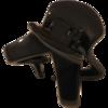 Haarklammer schwarz - 4 cm