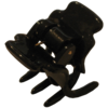 Haarklammer Schwarz - 2 cm