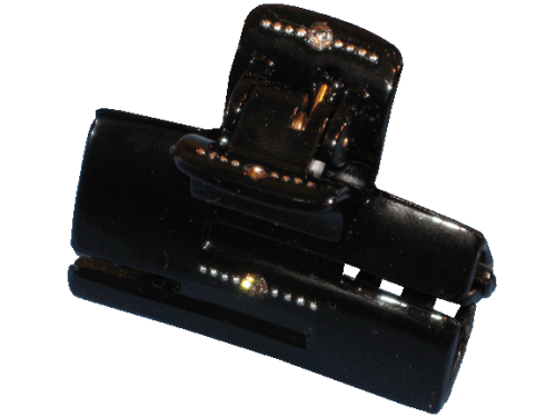 Haarklammer Schwarz Strass - 5 cm