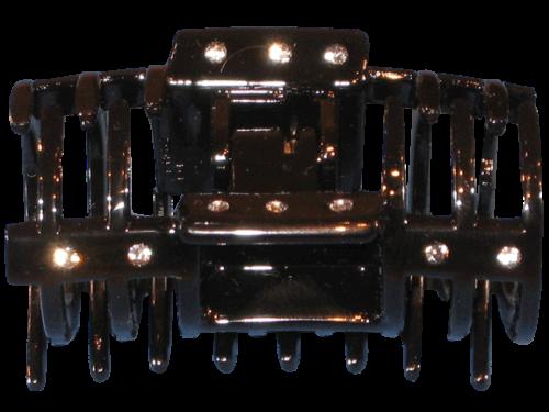 Haarklammer Schwarz Strass - 6 cm