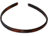 Haarreif Havanna-Braun - 8 mm breit