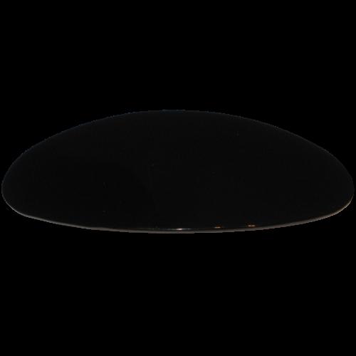 Haarspange oval schwarz 10 cm