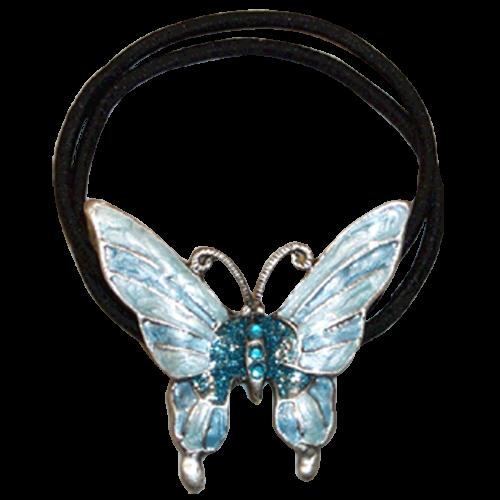 Haargummi Schmetterling blau