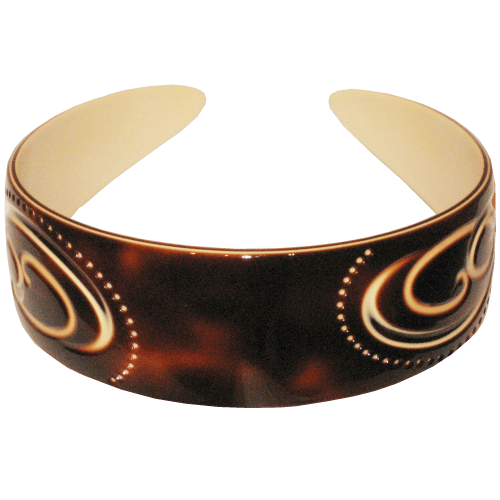 Head-band engraved 3,5 cm