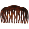 Einsteckkamm havanna - 12,5 cm