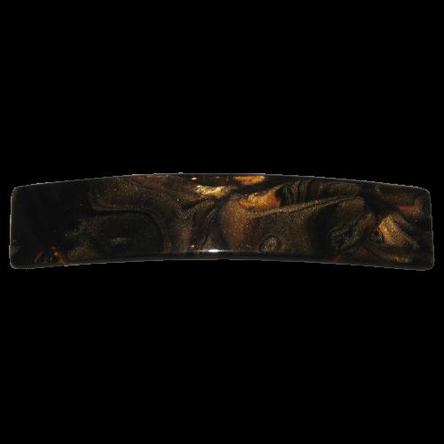 Haarspange mahagoni-farben 8 cm
