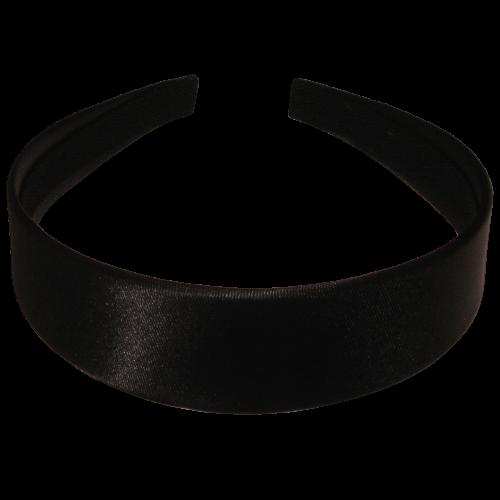 Haarreif schwarz, 3,5 cm breit