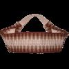 Haarband braun-elfenbein