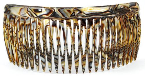 Einsteckkamm onyx - 12 cm