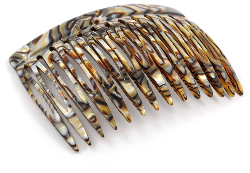 Einsteckkamm onyx - 7 cm, haarschonend