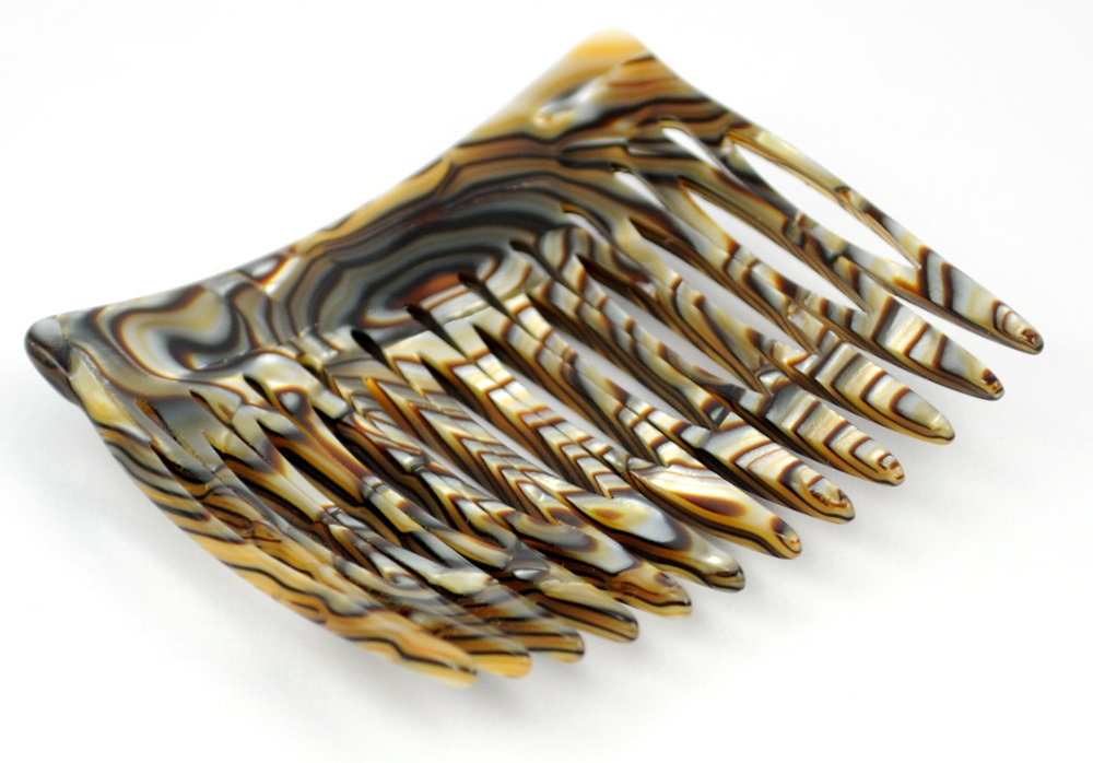 Einsteckkamm onyx - 6 cm, haarschonend