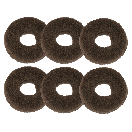 Großer Haargummi braun - 6er Set