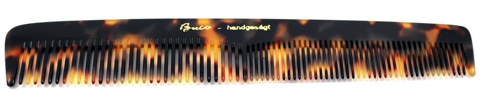 Gesägter Frisierkamm schildpattfarben - 16 cm