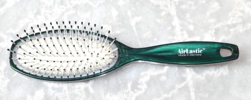 hair-brush airlastic green-metalic - 21,5 cm