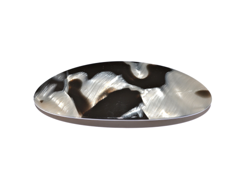 Haarspange oval argent - 9,5 cm