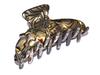 Haarklammer onyx - 8,5 cm, handgefertigt
