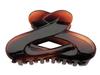 Haarklammer havanna-braun - 9 cm