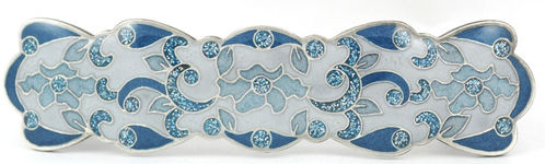 hair-barrette blue-white