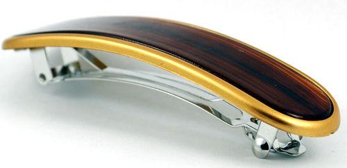 Haarspange gold satiniert 9 cm