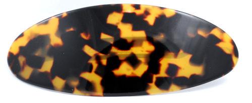 Haarspange oval schildpattfarben - 10 cm