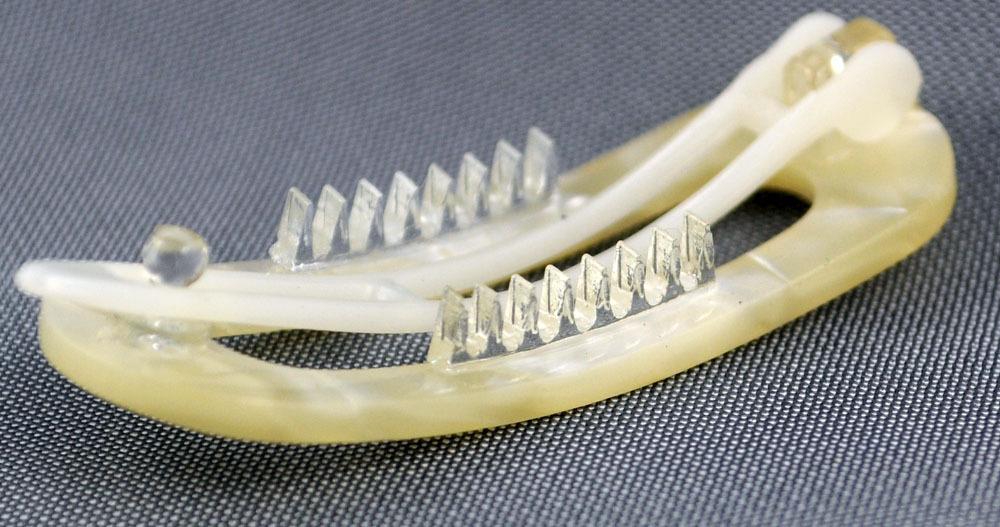 Kleine Haarspange - 4,5 cm, perl-weiß