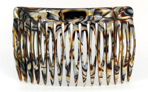 Einsteckkamm onyx - 8 cm