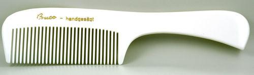 White handle-comb - 17,5 cm