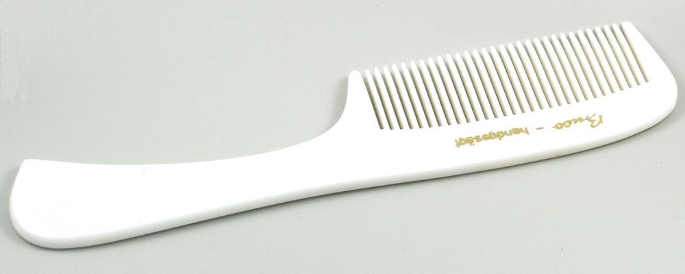 Weißer Grifftkamm gesägt - 17,5 cm