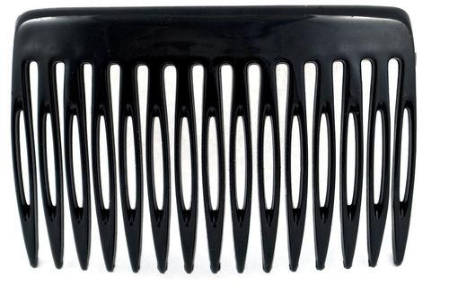 Einsteckkamm schwarz - 7 cm