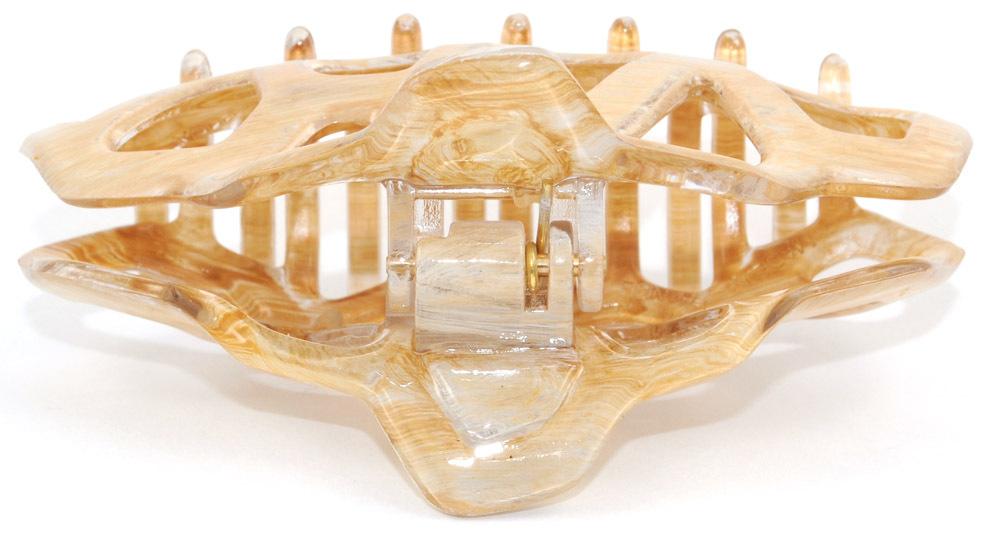 Haarklammer elfenbein-beige - 8,5 cm