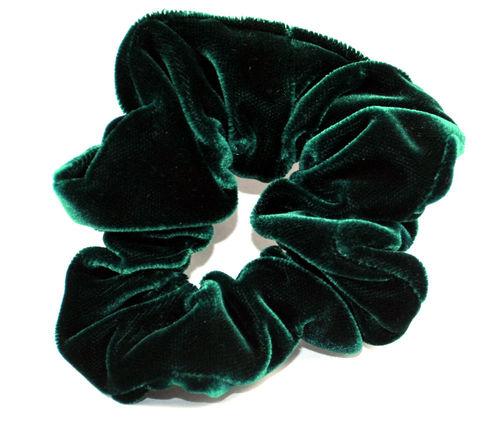 Haargummi Samt dunkelgrün