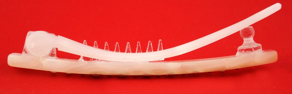 Haarspange perl-weiß  5 cm